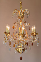 Italian LUXURY Crystal Chandelier on SALE Antique French Vintage Lamp Li... - $1,500.00