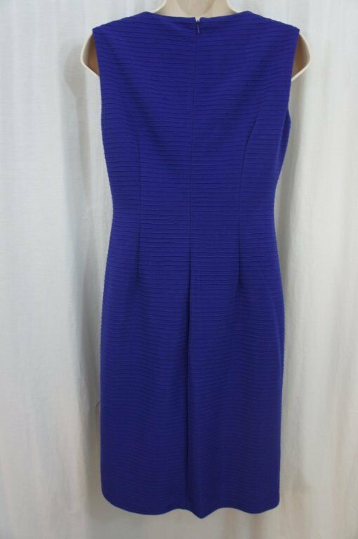 Anne Klein Dress Sz 4 Ultra Violet Purple Sleeveless Business Cocktail Party image 9