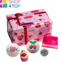 Love Sick Gift Pack Bomb Cosmetics Cherry Mandarin Rose Handmade Natural New - $18.80