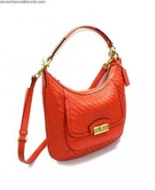 AUTH COACH KRISTIN WOVEN LEATHER HOBO CROSSBODY BAG PURSE F23047 $428 OR... - $105.77