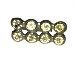 Tiny Vintage Rhinestone Bar Pin Brooch - $9.89