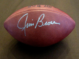 JIM BROWN CLEVELAND BROWNS HOF SIGNED AUTO VINTAGE WILSON NFL FOOTBALL JSA  - $346.49