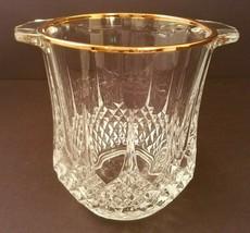 Longchamp Gold Trim Cristal D'arques JG Durand Ice Bucket Wine Champagne... - $30.00