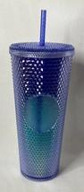 New Starbucks 2021 Bling Studded Blue Ombre Venti Tumbler Cup 24oz Purpl... - $69.25