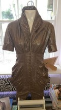 Allsaints Shimmery gold and brown shirt dress size 12 - $72.02