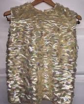 Vintage RARE Thayer Sophisticates Disco Sequined Iridescent Knit Top Siz... - $58.79