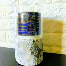 *Bath & Body Works* Faux Woodland Birch Candle Pillar Holder | Glass Hurricane - $39.55