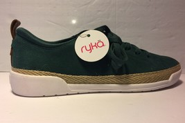 Ryka Suede Lace-Up Sneakers Olyssia Mallard Green 8.5W NEW A347801 - $22.99