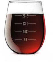 Running Engraved Stemless Wine Glass | Runner's... - $40.52