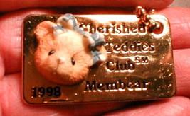 necklace pendant  Cherished Teddies 1998 Club Member fun  - $15.00