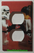 Lego Star Wars White Soldiers Love Light Switch Power Outlet Duplex Cover Plate image 2