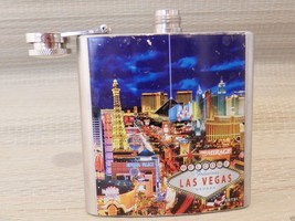 Las Vegas Sign Stainless Steel Hip Flask  Nevada Casino Route 66 - $9.27