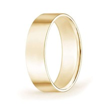 6mm wide High Polished Flat Surface Classic Wedding Band - $381.22+