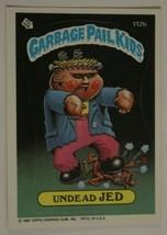 Undead Jed Vintage Garbage Pail Kids #112B Trading Card 1986 - $2.96