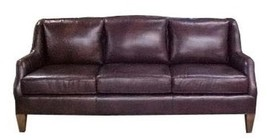 New Leather Sofa Top Grain Leather Wood Hand-Crafted - $7,249.00