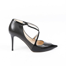 Jimmy Choo Patent Leather Crossover Pointed Pumps SZ 37 - $205.00