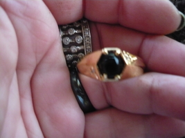 Paranormal Ring Of The Elder Djinn Power Ring SIZE13 Onyx Gen Diamond - $500.00