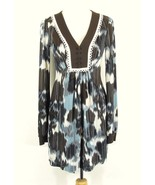 BCBG Maxazria Size S Front Pleated Tunic Dress Matte Jersey Knit - $21.99