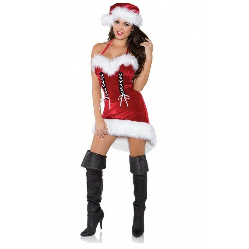Underwraps Babbo Natale Donna Sexy Adulte Vacanza Costume 29593