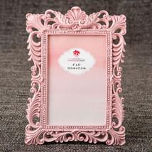 Elegant Pink Quartz Baroque Picture Frame Large Table Number Holder - ₨1,111.33 INR