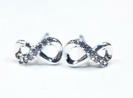 Authentic Pandora #298820C01 Sparkling Infinity Knot Stud Earrings with ... - $18.10