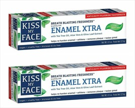 2X Kiss My Face Enamel Xtra Cool Mint Gel Toothpaste Discontinued Vegan ... - $8.96