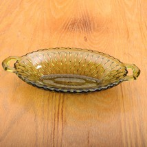 Indiana Glass Green Mount Vernon Oval Bowl Hand... - $28.04