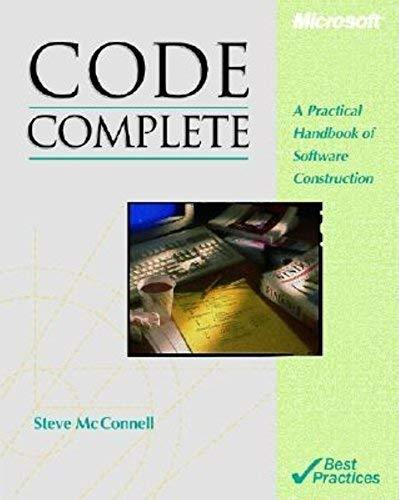 Code Complete (Microsoft Programming) McConnell, Steve