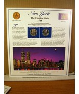 New York Statehood Quarters Collection Postal Commemorative Society - $8.09