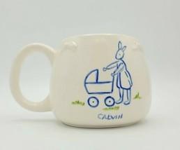 Handmade Cream Bunny Rabbit Mother & Child Calvin Mug 4 Baby Shower Moth... - £11.50 GBP