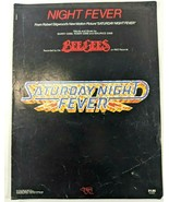Bee Gees Night Fever Sheet Music Saturday Night Fever Guitar Vocals 1977 - $14.52