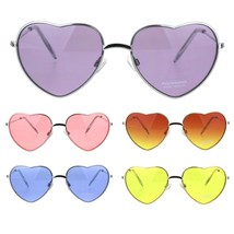 Hippie Pimp Color Lens Metal Rim Valentine Heart Shape Sunglasses - $12.95