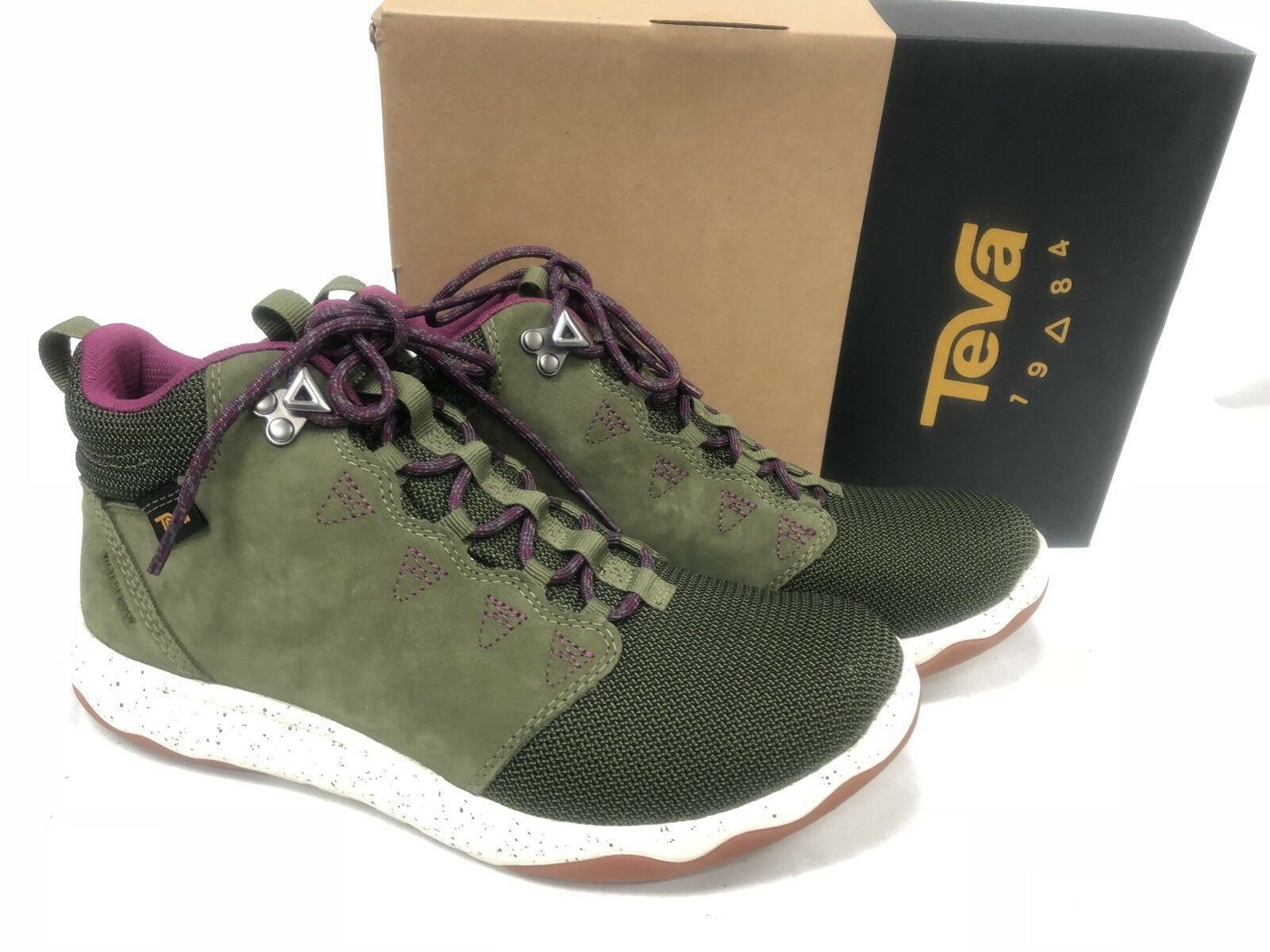 TEVA ARROWOOD MID WP Olive Green LEATHER TRAIL HIKING SHOES 1012483 size 7 11