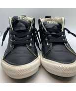 CONVERSE ALL STAR MID SNEAKERS BLACK LEATHER YOUTH SIZE US 3  632516C - $10.49