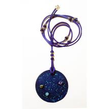 Collar de Resina y Arcilla polimérica / Resin and polymer clay necklace - $35.50