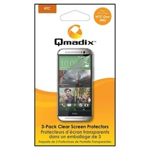 Qmadix Screen Protector for HTC One M8 - 3 Pack - Clear - $5.49