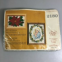 Creative Circle 1 Crewel Needlework Designs 2180 Pretty Poinsettia NEW 5... - $22.49