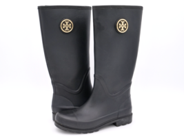 Tory Burch Womens 8M Black Solid Rubber Round Toe Pull On Mid Calf Rain ... - $79.99