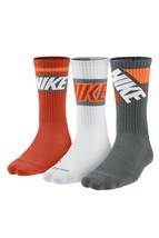 Nike Men's Dri-FIT Fly Rise Crew Socks 3-Pack SX4862-985 8-12 B(M) Large US - $20.57