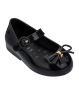 NWT Mini Melissa Baby Sweet Love Ballerina Black Gold Flower Pearl Sanda... - $52.00