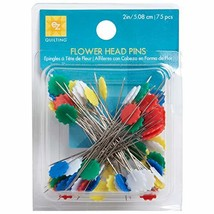Wrights 881428 Flower Head Multicolor Pins, 75-Pack - $7.20