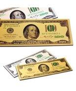 2x One Hundred Dollar $100 Bill Gold & Silver Millionaire Lucky Money Ma... - $7.99