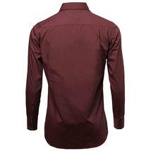 Omega Italy Men's Burgundy Dress Shirt Long Sleeve Regular Fit w/ Defect - XL image 3