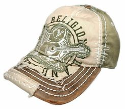 True Religion Men's Premium Vintage Distressed Buddha Trucker Hat Cap TR1101 image 8