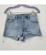 Lucky Brand Embroidered Jean Shorts Size 0/25 Floral and Hearts 100% Cotton - $17.77