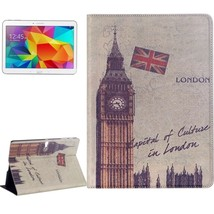 For Galaxy Tab S 10.5 Big Ben Pattern Flip Leather Case with Holder - $18.09