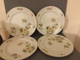 Vintage Lynmore Fine China Japan Golden Rose 10.5  Dinner Plate. Set Of ... - $31.64