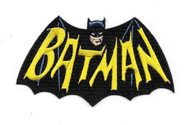 Batman 1960's TV Show Cape and Name Logo Embroidered Patch Large Version... - $7.84