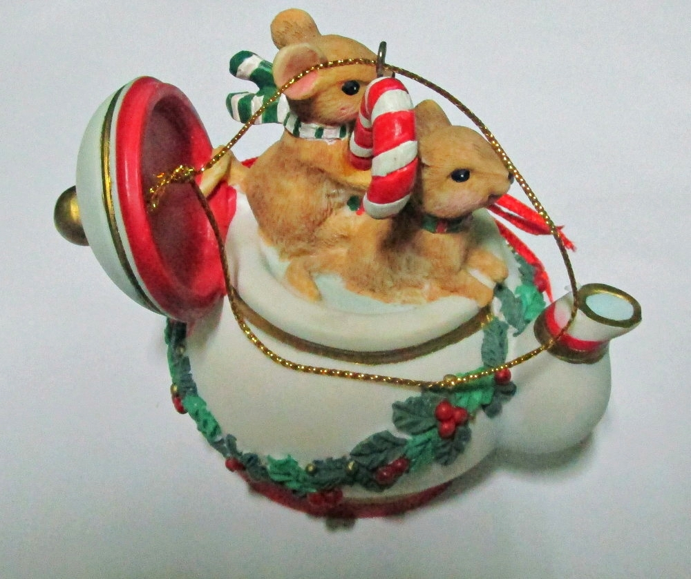 San Francisco Music Box Company Mice in Teapot Ornament