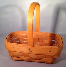 Longaberger Parsley Booking Basket w/ Protector - $14.65